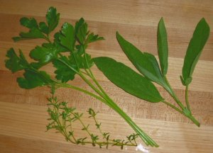 thyme, parsley, sage