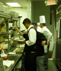 Chef Chris oversees action in the kitchen