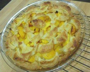 Peach Crescent Lattice Pie