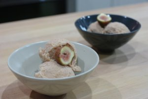 Fig Ice Cream.  So lazy, I didn't even take this pic - hubby did!