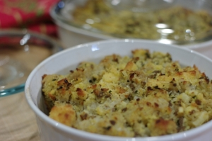 CF's Triple-bread Sausage Apple stuffing