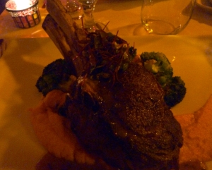 A generous veal chop!