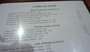Part of Flatiron Kitchen's local beer list