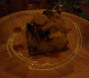 As if we could pass up dessert - bread pudding with pine nut brittle