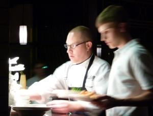 Executive Chef Arboleda in action