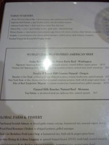 Flatiron Kitchen's current partial menu