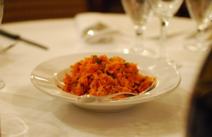 Carrot salad, bursting with flavor