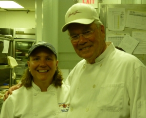 Chef Cassie with Guest Chef Charles Taft