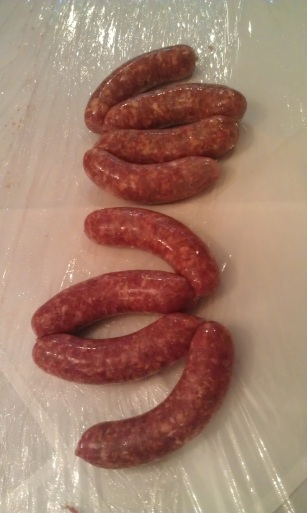 Beautiful smoked paprika sausage links