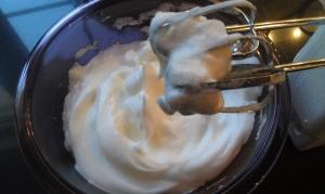 Egg whites - don't beat too long.
